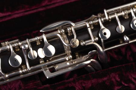 woodwind instrument: Oboe with case, Studio Shot