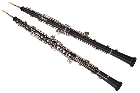 Oboe front and rear view, Studio Shot