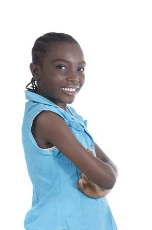 africa child: African girl smiling, Studio Shot