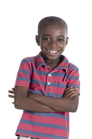 garcon africain: Garçon africain souriant, Prise de vue en studio
