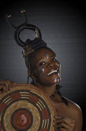African Beauty Fantasy, Studio Shot Cameroon photo