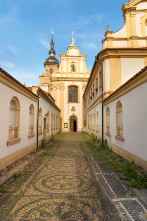 Church of Franziscan Monastery, Plzen, Czech Republic, August 2014 Stock Photo