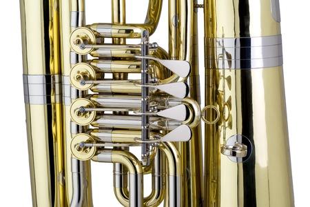 classical mechanics: Tuba detail studio shot