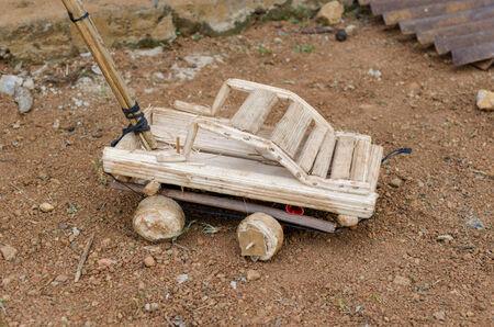 outdoor shot: African toy car, outdoor shot Cameroonn