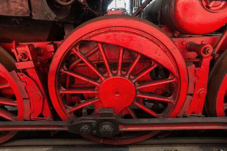 outdoor shot: Steam locomotive detail, outdoor shot
