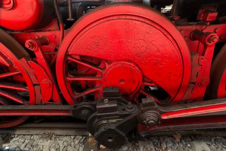analogous: Steam locomotive detail, outdoor shot