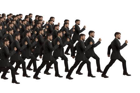 clones: Marching Clones follow Leader, studio shot