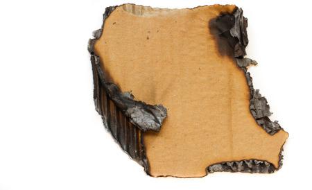 charred: charred cardboard Stock Photo