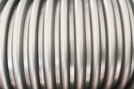 decorration: 3d Aluminum abstract silver Stock Photo