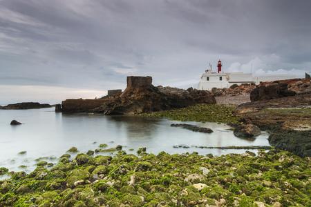 Lighthouse in cape raso, cascais - Portugal Banco de Imagens