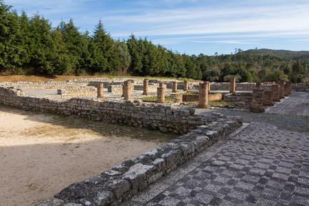 Roman ruins in Conímbriga, Portugal Stock Photo