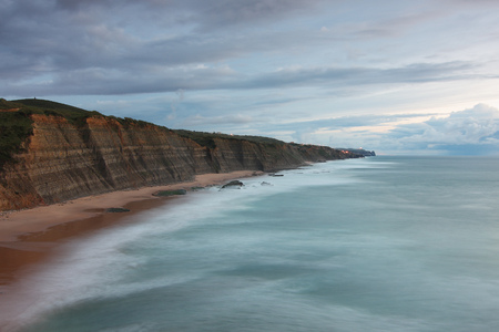 Landscape view of Magoito Beach, located in Sintra-Cascais natural park, Portugal