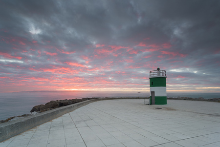 Small lighthouse at Oeiras Marina