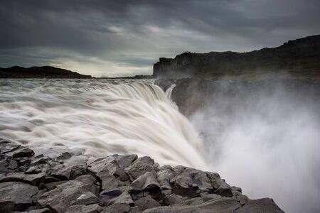 Edge of Dettifoss waterfall - Iceland