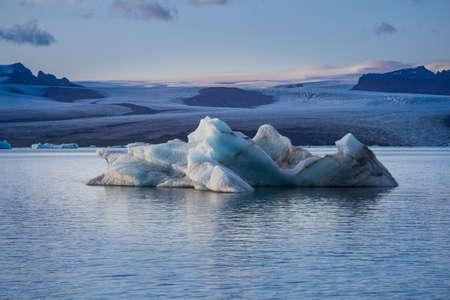 Jokulsarlon glacier lagoon 版權商用圖片
