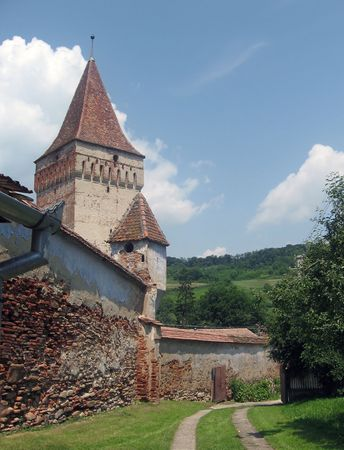 15th century: Late 15th Century fortified church in Transylvania, Romania.