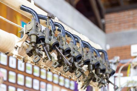 Old brewery equipments at Beer museum. Blumenau, Santa Catarina - Brazil