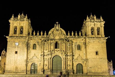 Iglesia La Merced, Plaza de Armas in Cusco, Peru. The church was founded in 1535.