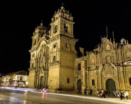 Night Views around Cusco City Centre, Peru South America Stock Photo