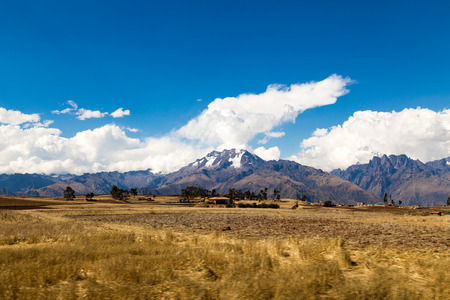 Sacred Valley moutain, Cusco, Peru. The way to Machu Picchu