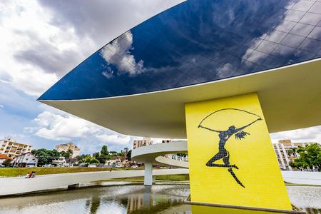 oscar niemeyer: CURITIBA, PARANABRAZIL - DECEMBER 28 2016: Oscar Niemeyer Museum