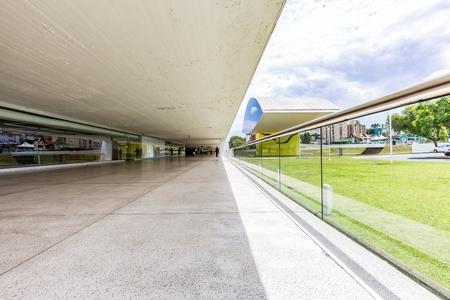 oscar niemeyer: CURITIBA, PARANABRAZIL - DECEMBER 28 2016: Interior Oscar Niemeyer Museum