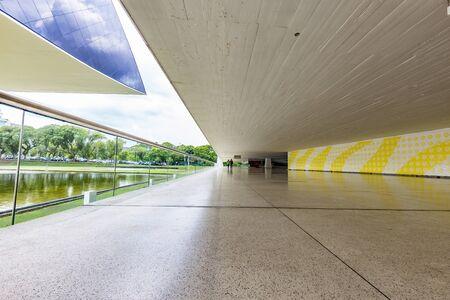 oscar niemeyer: CURITIBA, PARANA  BRAZIL - DECEMBER 28 2016: Oscar Niemeyer Museum