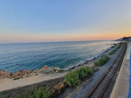 Santpoldemar Beach Train line Spain