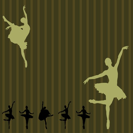 Dancing ballerina on a  background