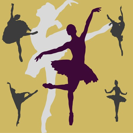 Dancing ballerina on a background Vector
