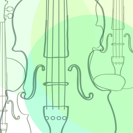 violins: violins Illustration