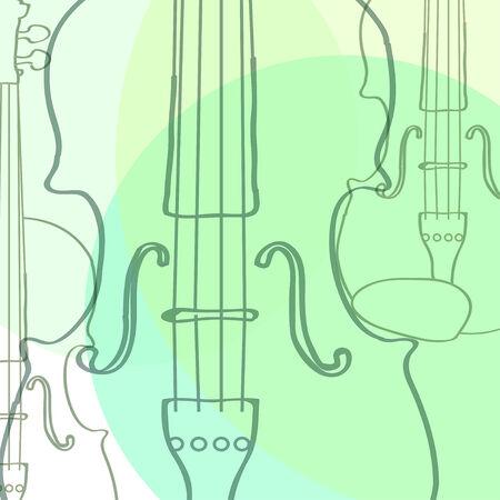 violins Ilustrace