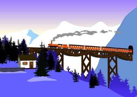 alpes suizos: monta�as de tren