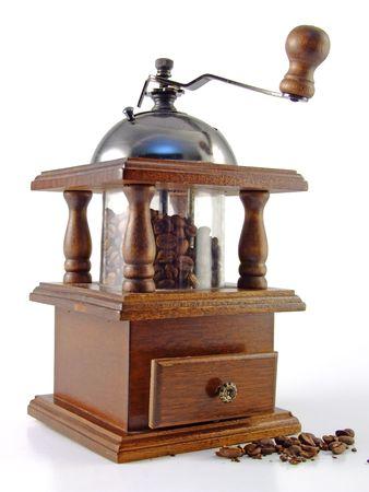 grinder machine: Antiquity coffee machine Stock Photo