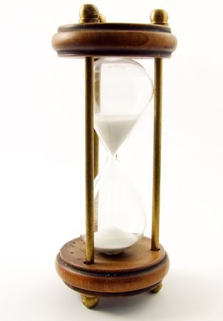 Close up of an hourglass Stock Photo