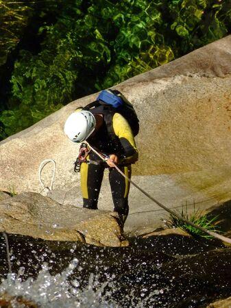 Men desdending waterfall