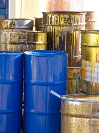 Toxic waste barrels Stock Photo - 2263608