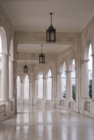 sanctuary: Hallway in the Sanctuary of Fatima