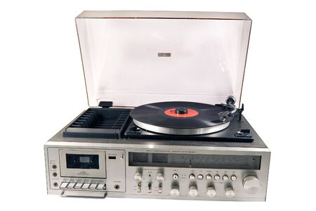 Retro viejo estéreo conjunto