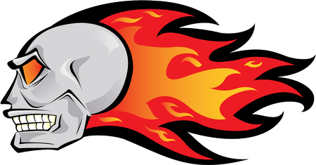 fire skull: Flaming skull