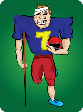 number seven: Lucky number seven - sport injury