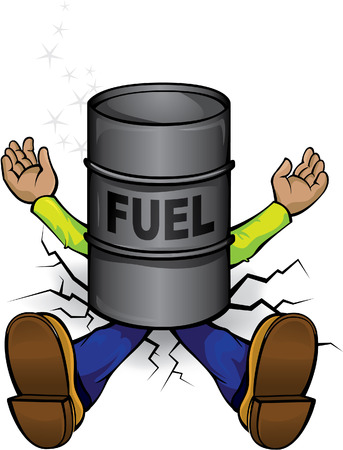 Crash by the fuel price Vector
