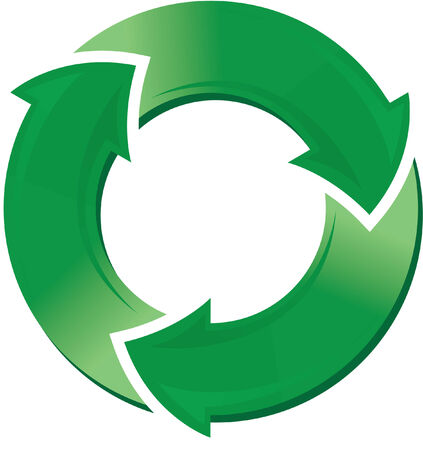 back lit: Recycle symbol