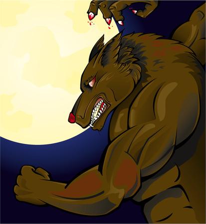 loup garou: Loup-garou attaquent Illustration