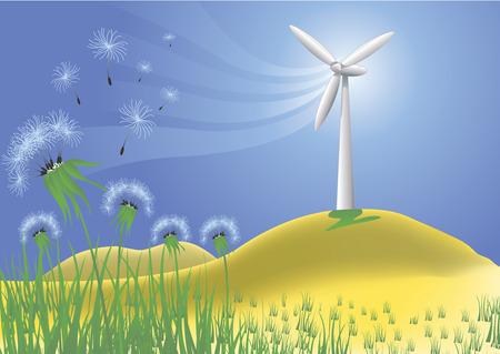 Clean power Illustration