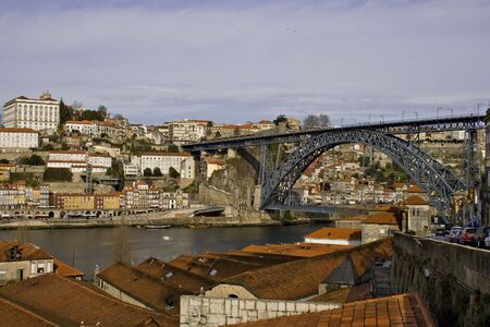 luis: Oporto View with D. Luis Bridge in the background - Portugal