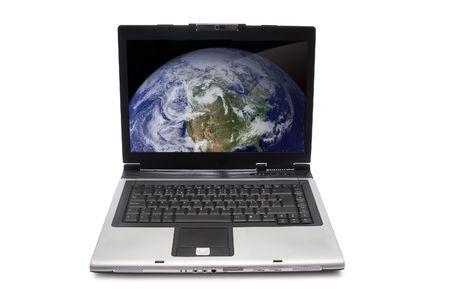 Laptop isolated on white background Stock Photo - 4264190