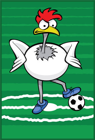 Soccer Rooster Vector