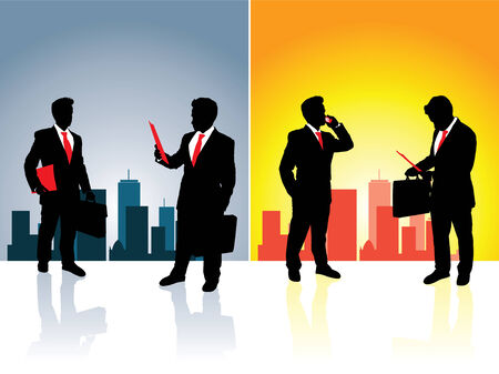 Business Night and Day Vector