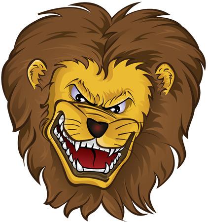 Lion Mascot head Vector
